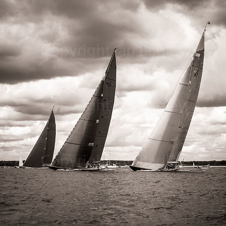 Three J Class beat up the Solent