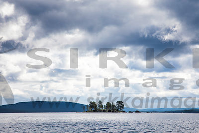 Landscape of Lake Inarijärvi