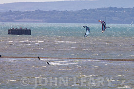 Kite Surfers (and photographer) at Calshot.