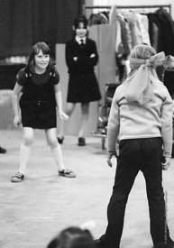 #74652,  Anna Scher Children's Theatre, Bentham Court Hall, Islington, North London 1972.  Kids would come after school and b...