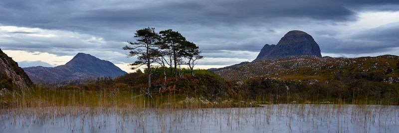 Image - Suilven and Canisp from Loch Druim Suardalain, near Lochinver, Assynt, Sutherland, Highland, Scotland