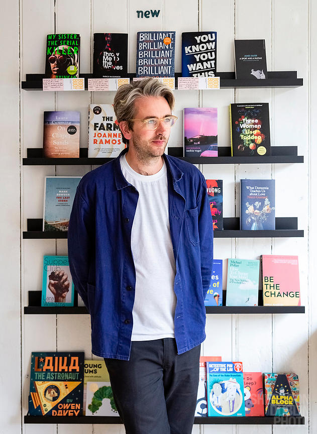 Portrait of Rob McCrae, Owner of Book Buoy, Margate