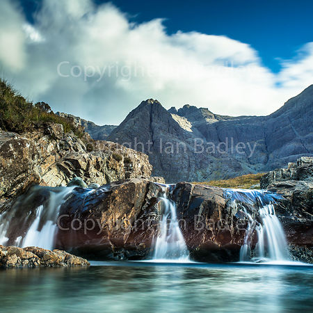 Three waterfalls at the Fairy Pools