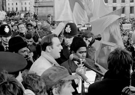 #70377  John Palmer, from the International Socialists & the Vietnam Solidarity Campaign, addressing the crowd in Trafalgar S...