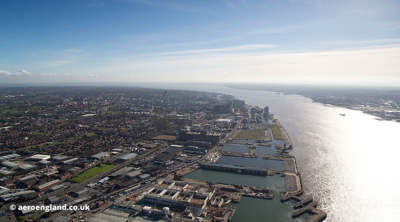 Bramley-Moore Dock Liverpool from the air