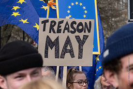 #124548,  Anti-Brexit march to Parliament Square, London, 23rd March 2019.  A million people of all ages marched demanding a ...