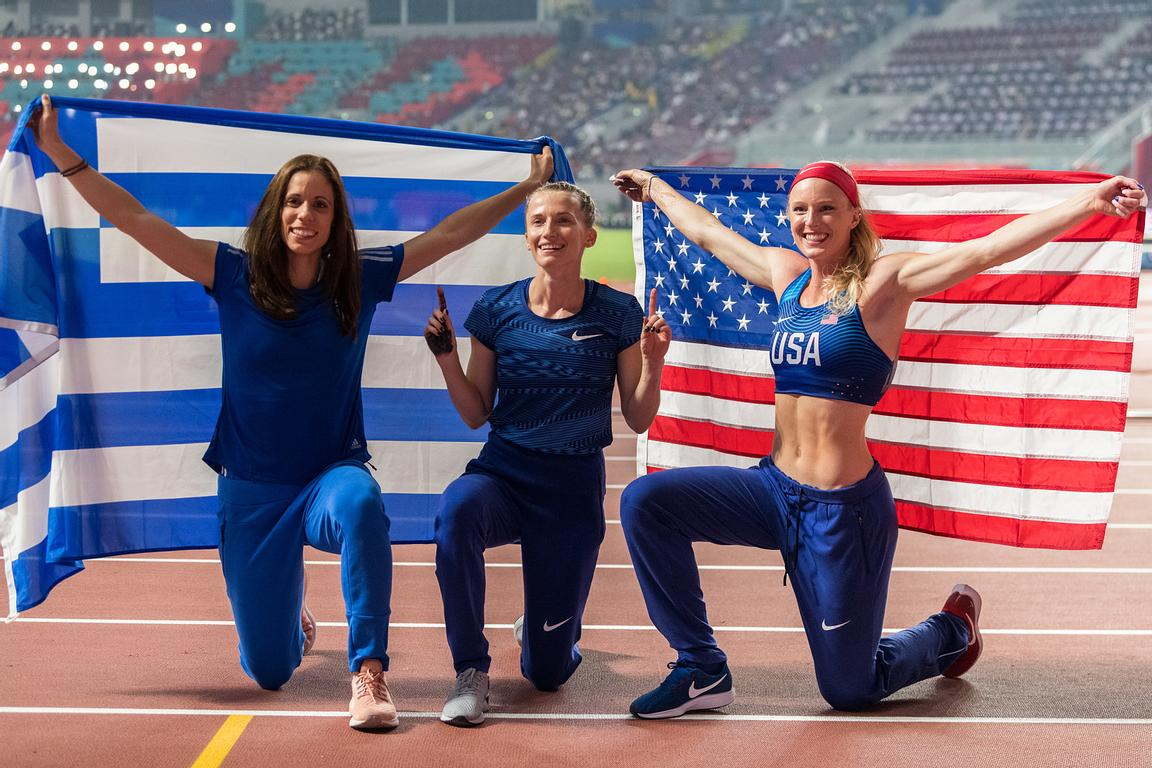 Katerina Stefanidi (Greece) - Anzhelika Sidorova (Authorized Neutral Athlete) - Sandi Morris (United States Of America)