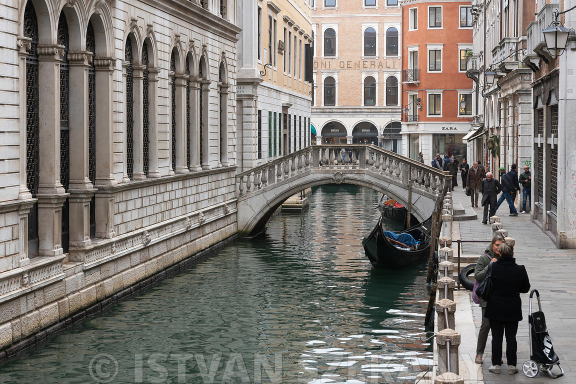 canal in the historic center of Venice