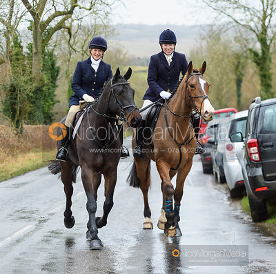 Dot Clowes at the meet. The Cottesmore and Fernie Hunts at Hill Top 10/12