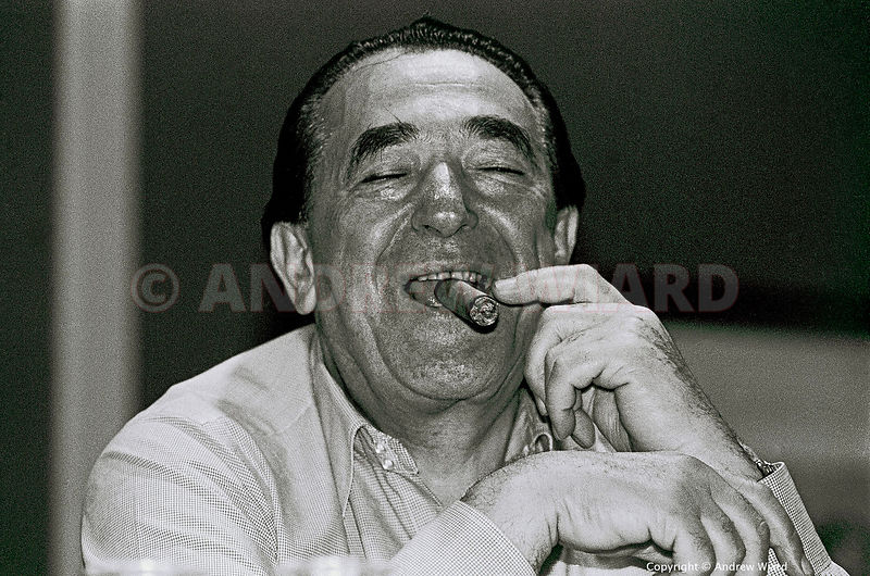 England, UK . September/October.1984. Blackpool. Robert Maxwell at the Labour Party Conference.
