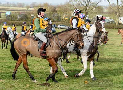 Tom Kingston before the start. The Melton Hunt Club Ride 17/2