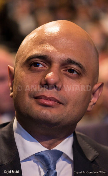England, UK .4.10.2017. Manchester . Conservative Party Conference, Wednesday. Prime Minister Theresa May's speech. Sajid Javid.