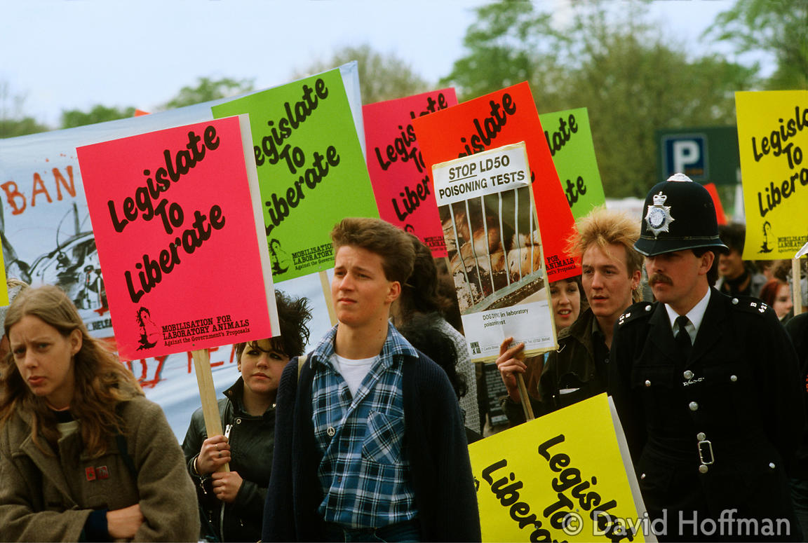 Animal Rights Demo, Hyde Park, London 2/3/1986