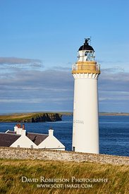 Image - Cantick Head lighthouse on South Walls, Orkney, Scotland.  On the southern approaches to Scapa Flow.