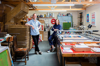 Portrait of Crispin Finn Design Studio Owners, Margate