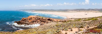 Panoramic of Bordeira beach, Algarve, Portugal
