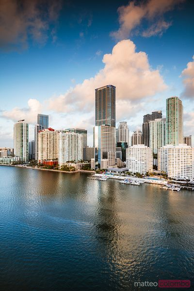 Miami skycrapers at sunset, Florida, United States