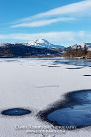 Image - Ben Lomond and Loch Ard, the Trossachs, Winter Ice