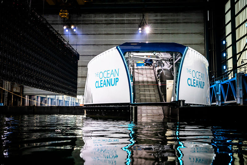 Rotterdam, October 26, 2019 - Saturday Rehearsal - The Ocean Cleanup unveils the Interceptor, the first scalable river cleanu...