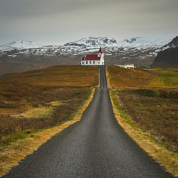 Iceland | Canvas wall art | Hellissandur Church