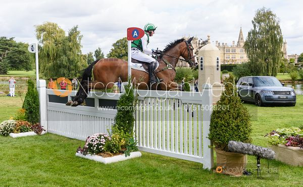 Michael Owen and BRADELEY LAW - Cross Country - Land Rover Burghley Horse Trials 2019