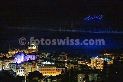 Drone Show St.Moritz New Year 2020