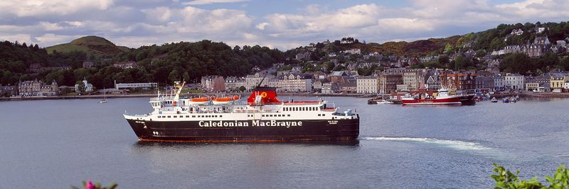 Image - Caledonian MacBrayne ferry leaving Oban, Scotland