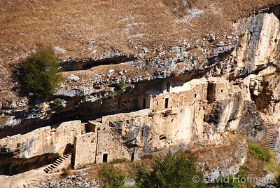 070911-21_Majella_242 Ruins and remains of an old settlement formed around a church built by a hermit in a gorge near Caraman...