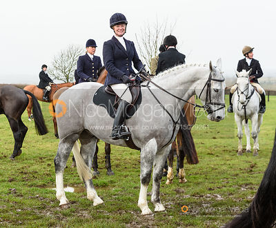 Juliet Cursham at the meet. The Quorn Hunt at Barrowcliffe 6/12