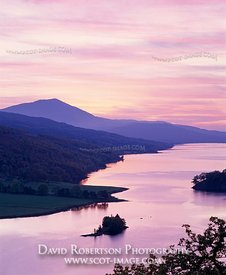 Image - Queen's View Sunset, Loch Tummel, Perthshire, Scotland