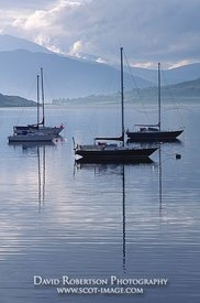 Image - Yachts on Loch Broom, Ullapool, Scotland