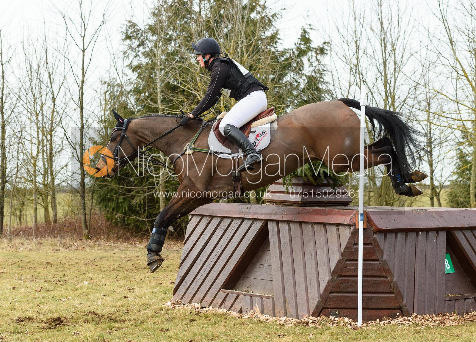 Elizabeth Power and REENMORE DUKE - Intermediate Sections - Oasby Horse Trials, March 2018.