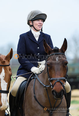 Caroline Stewart at the meet. The Belvoir Hunt at Long Clawson 21/1