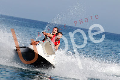 Photo de jet ski avec figurants