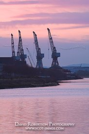 Image - Govan Shipyard cranes on the River Clyde, Glasgow, Scotland.