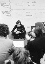#77155  Student presentation, Architectural Association School of Architecture, London  1975.