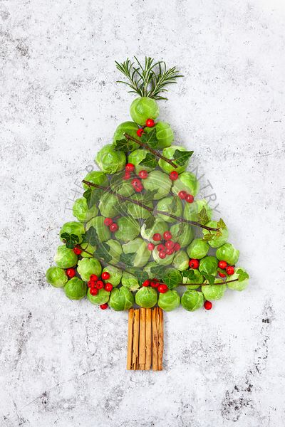 Brussel Sprout Christmas Tree