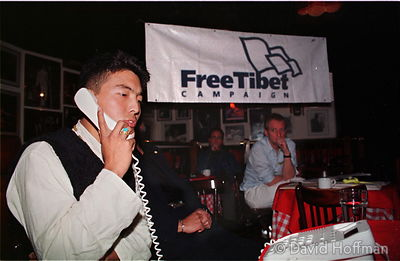 Free Tibet campaign organiser calling the mother of a Tibetan political, prisoner jailed by the Chinese occupying government.