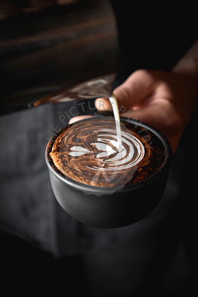Cappuccino being poured