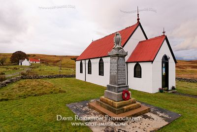 Image - Syre Church and War Memorial, Strathnaver, Sutherland, Scotland