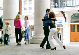 #25923,  Dancing The Tango in Guildford High Street to promote a new dance class in the town.