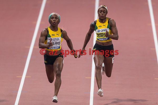 Shelly-Ann Fraser-Pryce (Jamaica) - Elaine Thompson (Jamaica)