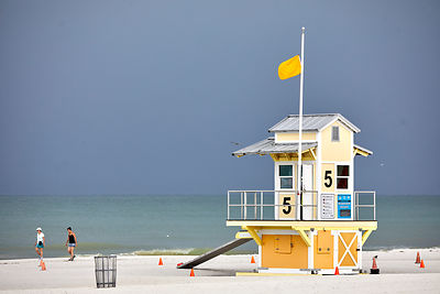 Clearwater Beach lifeguard hut