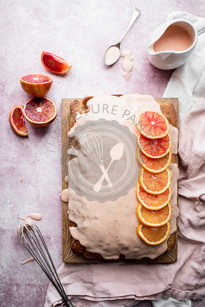 Blood Orange and Poppyseed Glazed Traybake