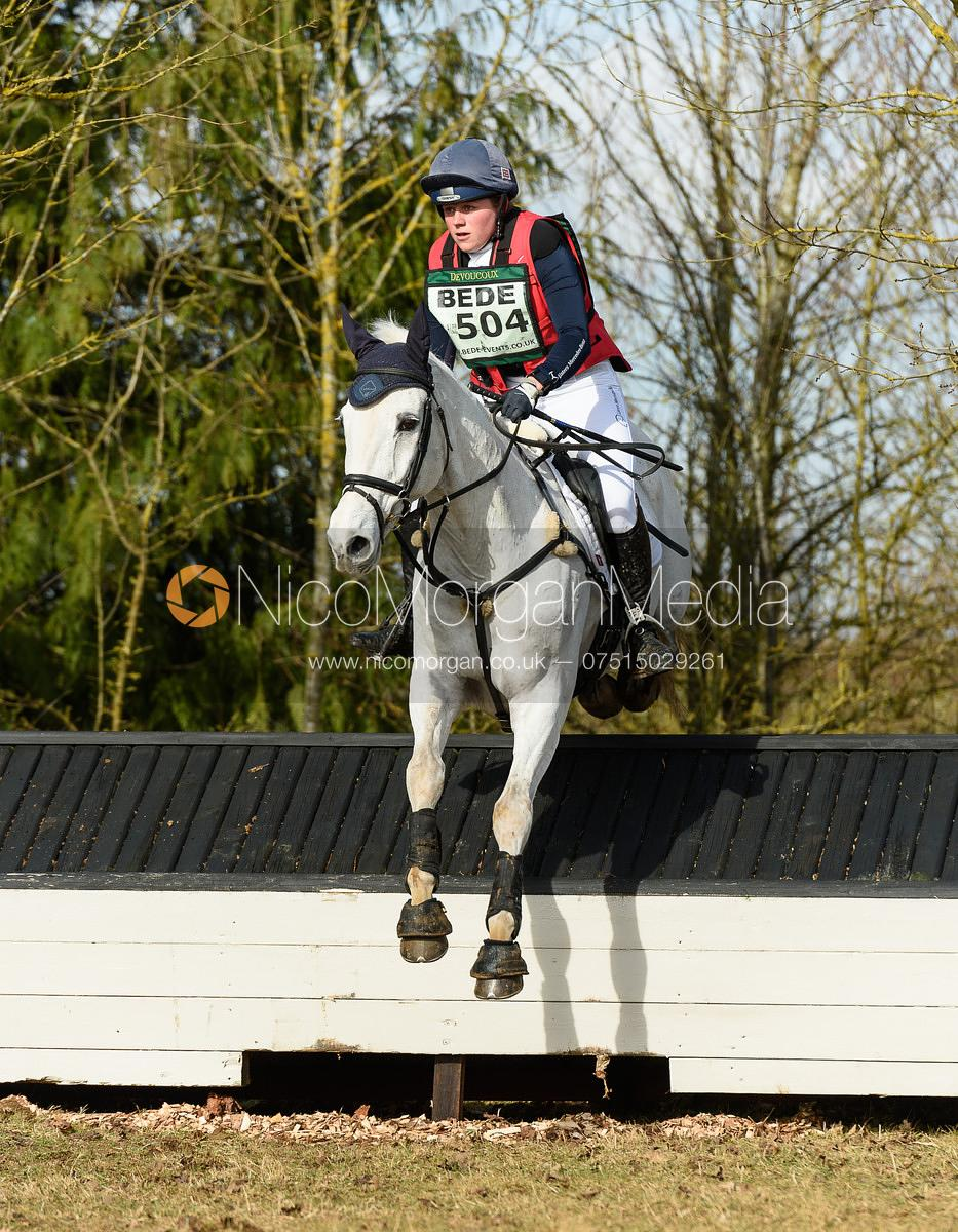 Sophie Brown and WIL - Intermediate Sections - Oasby Horse Trials, March 2018.