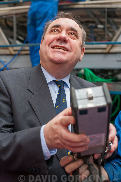 Alex Salmond at Bus Factory