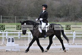 Unaffiliated dressage. Brook Farm Training Centre. Essex. UK. 12/01/2019. ~ MANDATORY Credit Ellen Szalai/Sportinpictures - N...