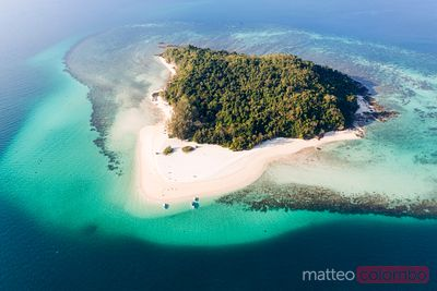 Aerial view of bamboo island, Krabi province, Thailand