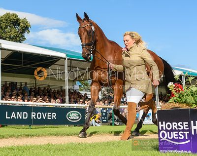 Gemma Tattersall and ARCTIC SOUL at the trot up, Land Rover Burghley Horse Trials 2019