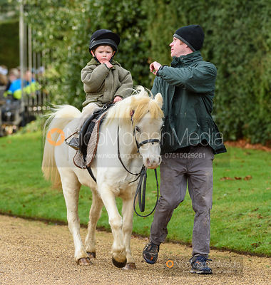 Archie and Angus Smales at the meet. The Cottesmore Hunt at Pickwell 31/12